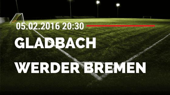 Borussia M'gladbach - SV Werden Bremen 05.02.2016 Tipp