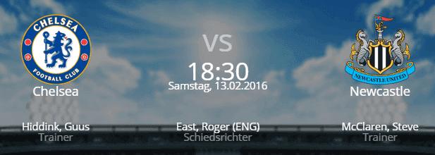 Chelsea – Newcastle United 13.02.2016 Tipp