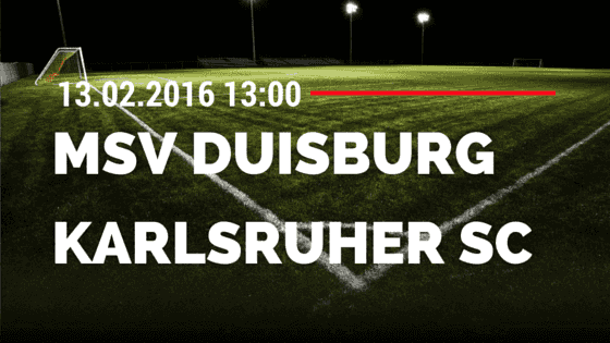 MSV Duisburg – Karlsruher SC 13.02.2016 Tipp