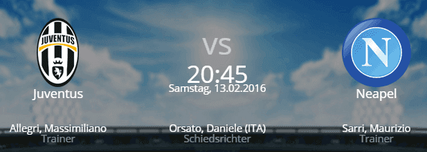 Juventus Turin – SSC Neapel 13.02.2016 Tipp