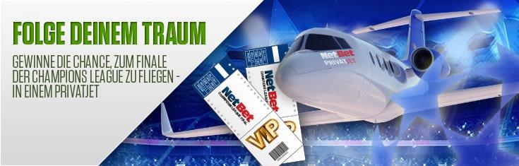 NetBet verlost VIP Tickets für Champions League Finale in Italien