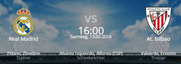 Real Madrid – Athletic Bilbao 13.02.2016 Tipp