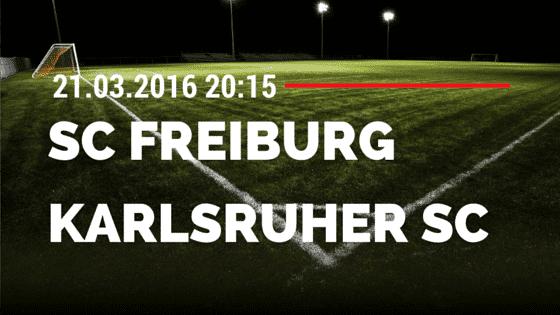 SC Freiburg – Karlsruher SC 21.03.2016 Tipp