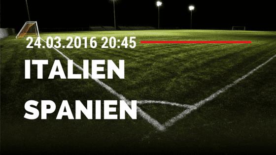 Italien - Spanien Freundschaftsspiel 24.03.2016 Tipp