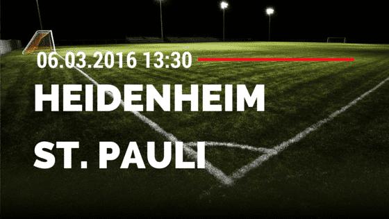 1. FC Heidenheim – FC St. Pauli 06.03.2016 Tipp