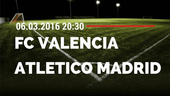 FC Valencia – Atletico Madrid 06.03.2016 Tipp