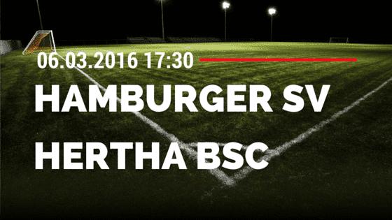 Hamburger SV - Hertha BSC Berlin 06.03.2016 Tipp