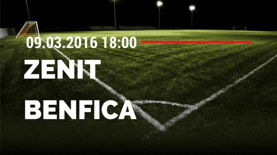Zenit St. Petersburg – Benfica Lissabon 09.03.2016 Tipp