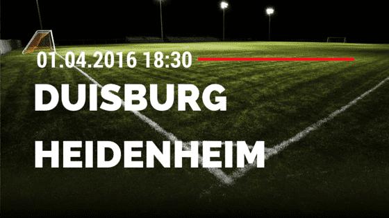 MSV Duisburg vs 1. FC Heidenheim 01.04.2016 Tipp