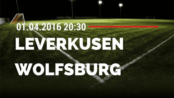 Bayer 04 Leverkusen vs VfL Wolfsburg 01.04.2016 Tipp