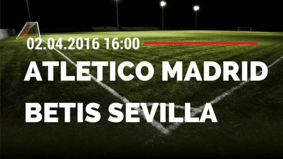 Atletico Madrid vs Betis Sevilla 02.04.2016 Tipp