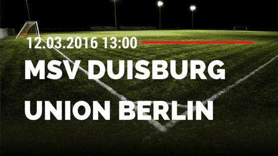 MSV Duisburg – 1. FC Union Berlin 12.03.2016 Tipp