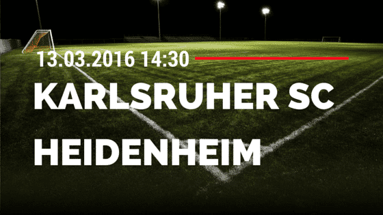 Karlsruher SC – 1. FC Heidenheim 13.03.2016 Tipp