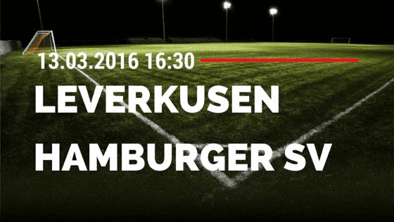 Bayer 04 Leverkusen - Hamburger SV 13.03.2016 Tipp