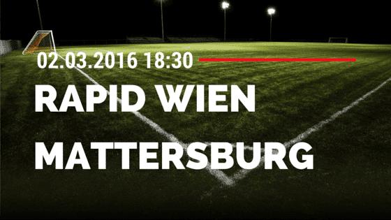 SK Rapid Wien – SV Mattersburg 02.03.2016 Tipp