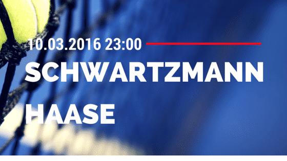 Diego Sebastian Schwartzmann - Robin Haase - 10.03.2016