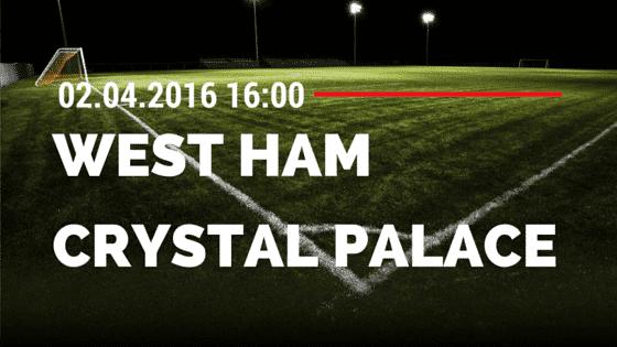 West Ham United vs Crystal Palace 02.04.2016 Tipp