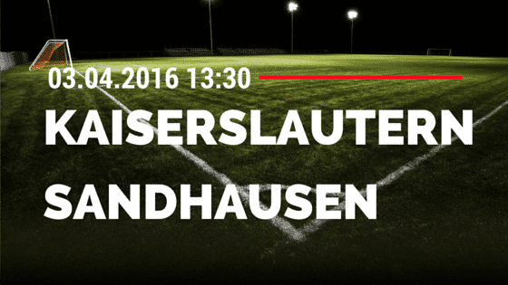 1. FC Kaiserslautern vs SV Sandhausen 03.04.2016 Tipp