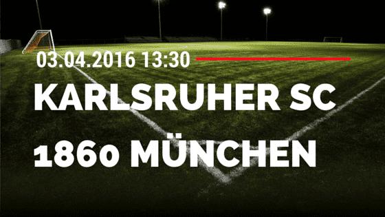 Karlsruher SC vs TSV 1860 München 03.04.2016 Tipp