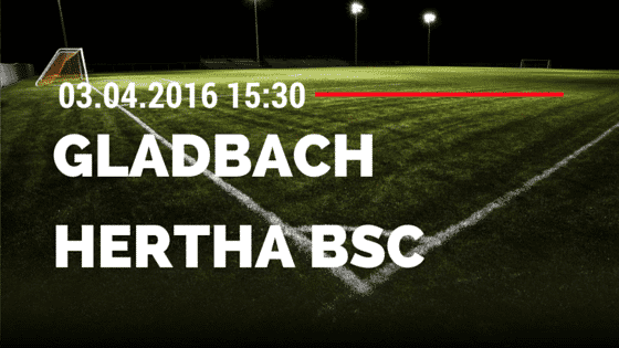 Borussia M'gladbach vs Hertha BSC Berlin 03.04.2016 Tipp
