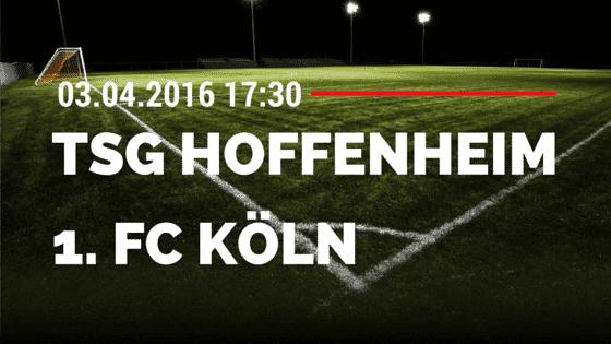 TSG Hoffenheim vs 1. FC Köln 03.04.2016 Tipp