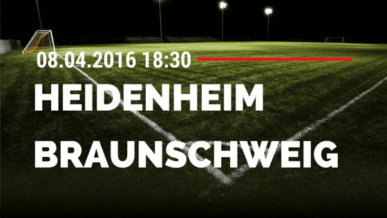 1. FC Heidenheim vs Eintracht Braunschweig 08.04.2016 Tipp