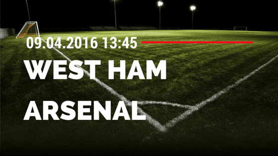 West Ham United vs FC Arsenal 09.04.2016 Tipp