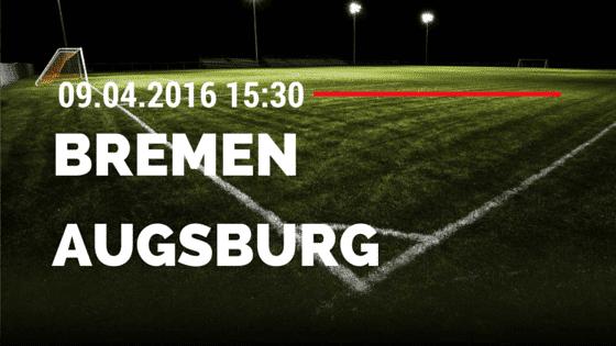 SV Werder Bremen vs FC Augsburg 09.04.2016 Tipp
