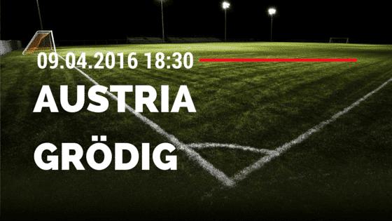 FK Austria Wien vs SV Grödig 09.04.2016 Tipp