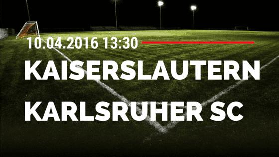 Kaiserslautern vs KSC 10.04.2016