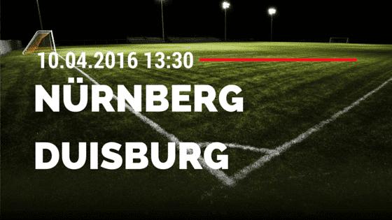 1. FC Nürnberg vs MSV Duisburg 10.04.2016 Tipp