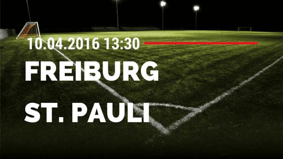 SC Freiburg vs FC St. Pauli 10.04.2016 Tipp