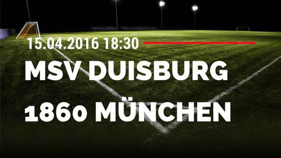 MSV Duisburg vs TSV 1860 München 15.04.2016 Tipp