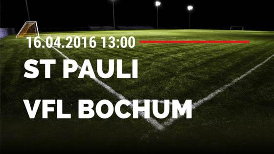 FC St. Pauli vs VfL Bochum 16.04.2016 Tipp
