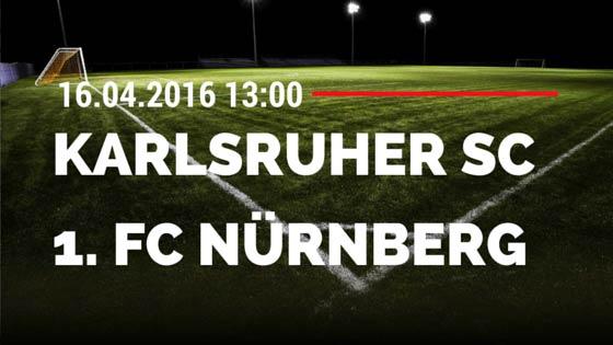 Karlsruher SC vs 1. FC Nürnberg 16.04.2016 Tipp