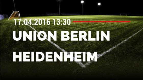 1. FC Union Berlin vs 1. FC Heidenheim 17.04.2016 Tipp