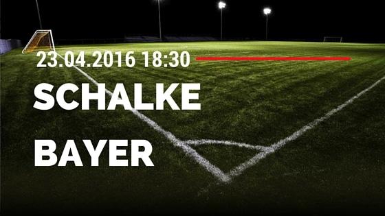 FC Schalke 04 vs Bayer 04 Leverkusen 23.04.2016 Tipp