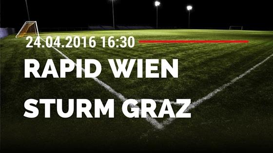 SK Rapid Wien vs SK Sturm Graz 24.04.2016 Tipp