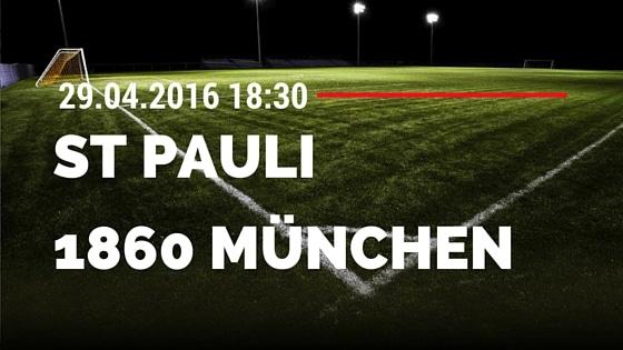 FC St. Pauli vs TSV 1860 München 29.04.2016 Tipp