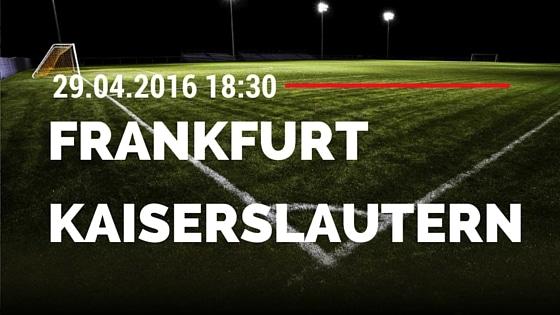 FSV Frankfurt vs 1. FC Kaiserslautern 29.04.2016 Tipp
