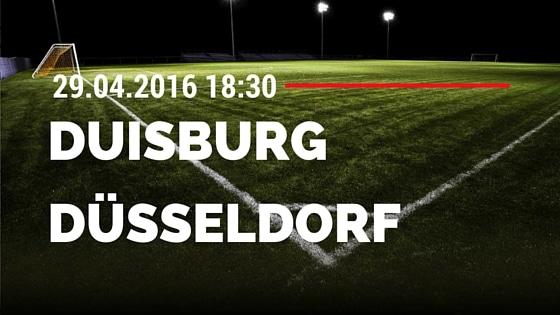 MSV Duisburg vs Fortuna Düsseldorf 29.04.2016 Tipp