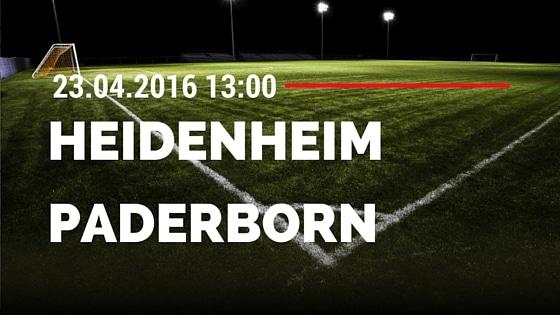 1. FC Heidenheim vs SC Paderborn 23.04.2016 Tipp