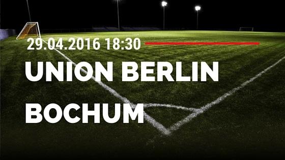 1. FC Union Berlin vs VfL Bochum 29.04.2016 Tipp