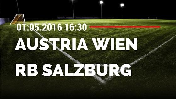 FK Austria Wien vs Red Bull Salzburg 01.05.2016 Tipp