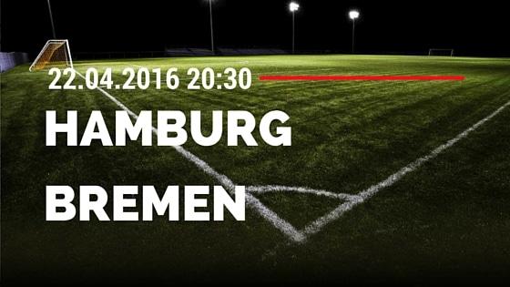 Hamburger SV vs SV Werder Bremen 22.04.2016 Tipp