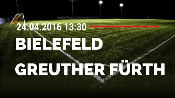 Arminia Bielefeld vs SpVgg Greuther Fürth 24.04.2016 Tipp