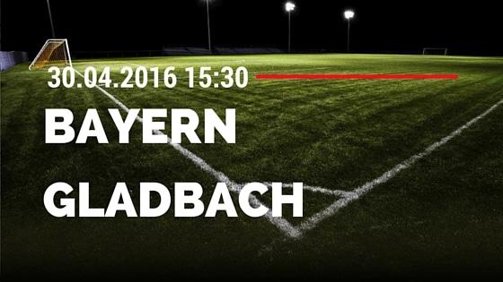 FC Bayern München vs Borussia M'gladbach 30.04.2016 Tipp