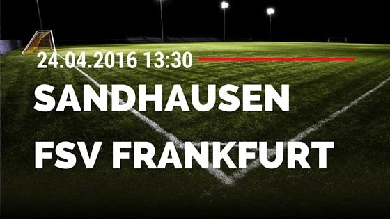 SV Sandhausen vs FSV Frankfurt 24.04.2016 Tipp