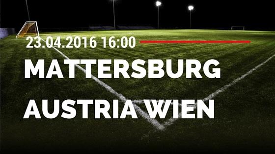 SV Mattersburg vs FK Austria Wien 23.04.2016 Tipp