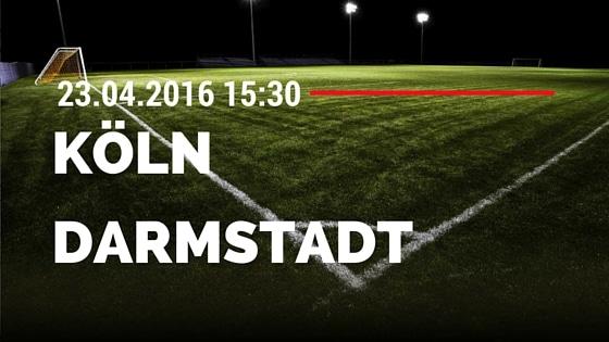 1. FC Köln vs SV Darmstadt 98 23.04.2016 Tipp